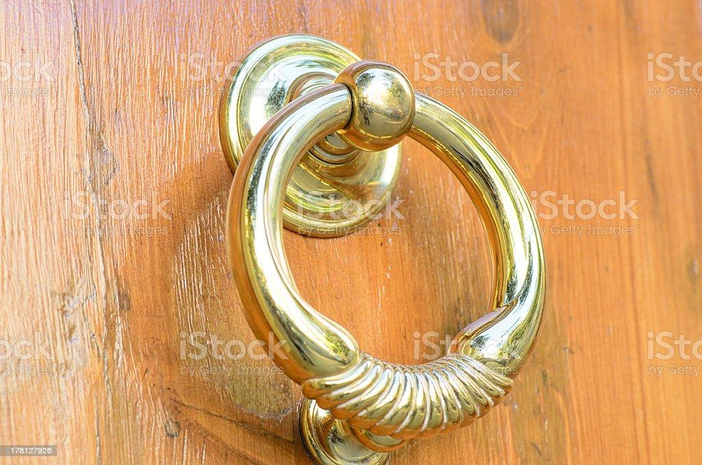 Round Door Lever royalty-free stock photo