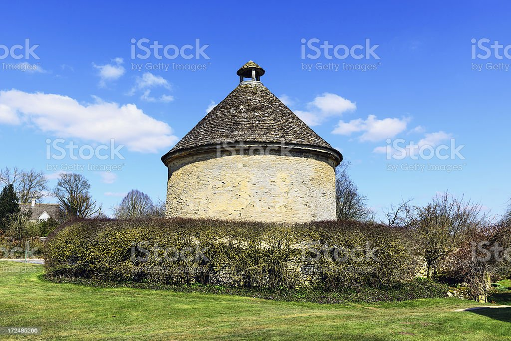Round Dovecote in The Cotswolds, England stock photo
