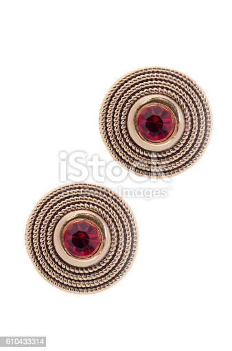 istock round earrings with rubies 610433314