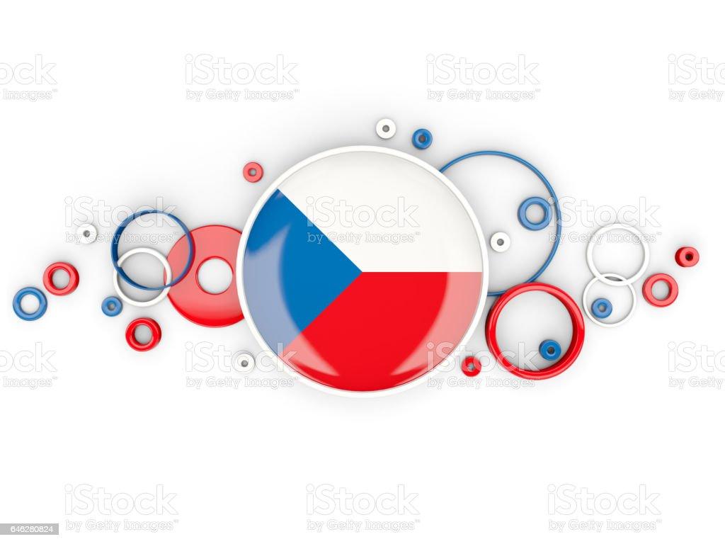 Pabellón redondo de República Checa con el patrón de círculos - foto de stock