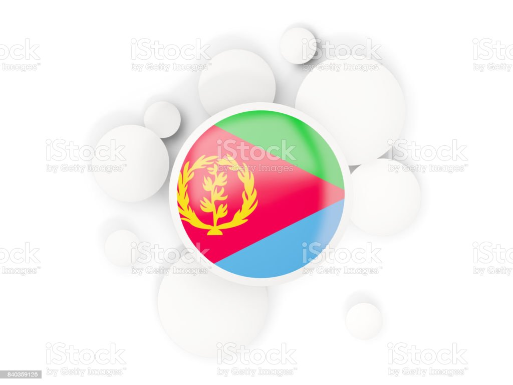Round flag of eritrea with circles pattern stock photo