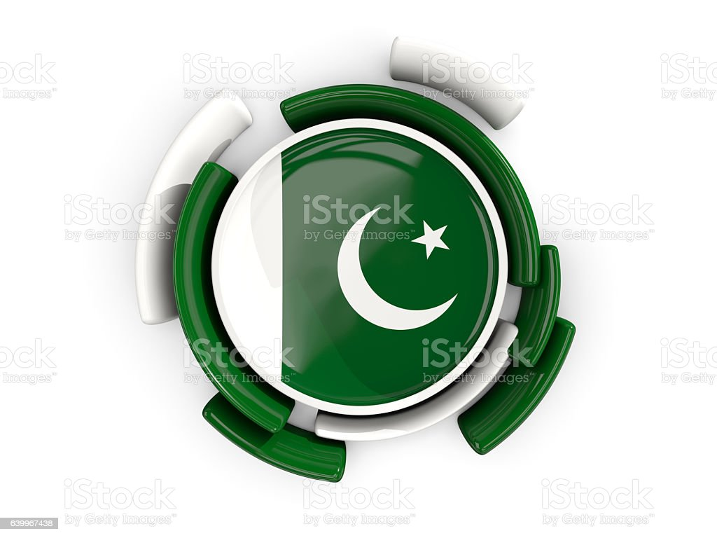 round flag of pakistan with color pattern stock photo istock