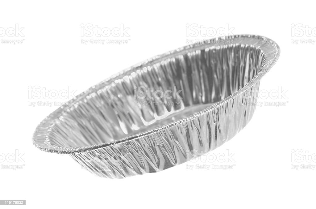 Round Foil Tray royalty-free stock photo
