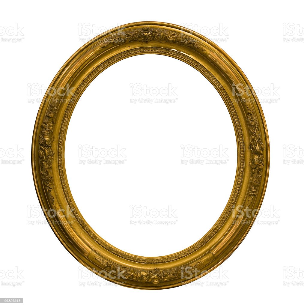 Round frame with clipping path royalty-free stock photo