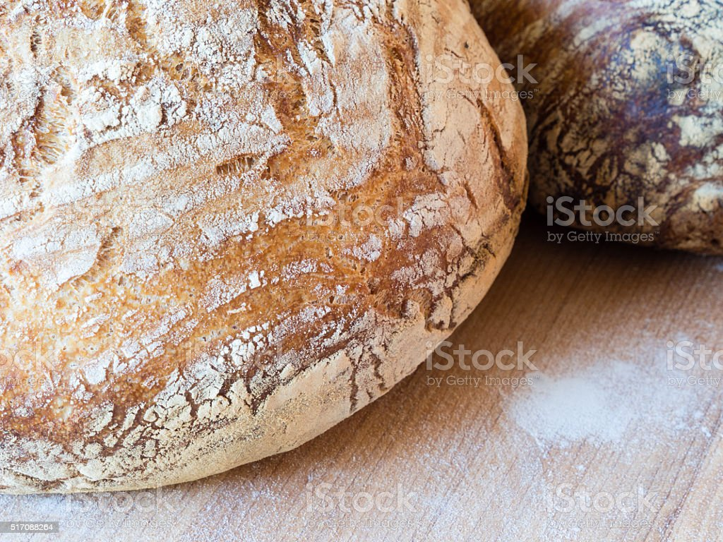 Round french boule bread stock photo