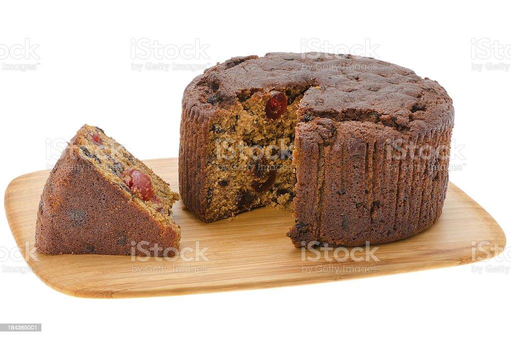 Round fruitcake stock photo