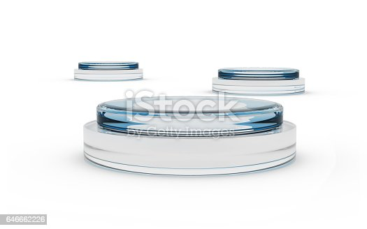 istock round glass stands for display 646662226