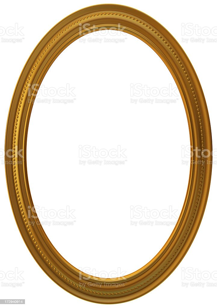 Round gold frame royalty-free stock photo