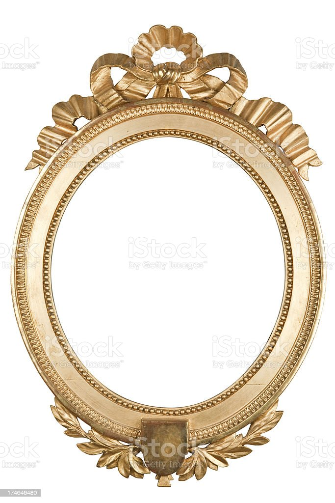 Round Golden Frame Stock Photo & More Pictures of Antique | iStock