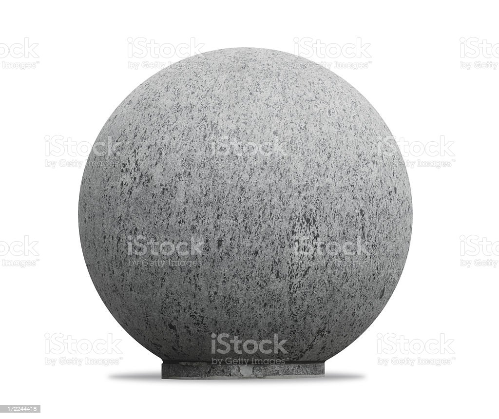 Round Granite Stone stock photo