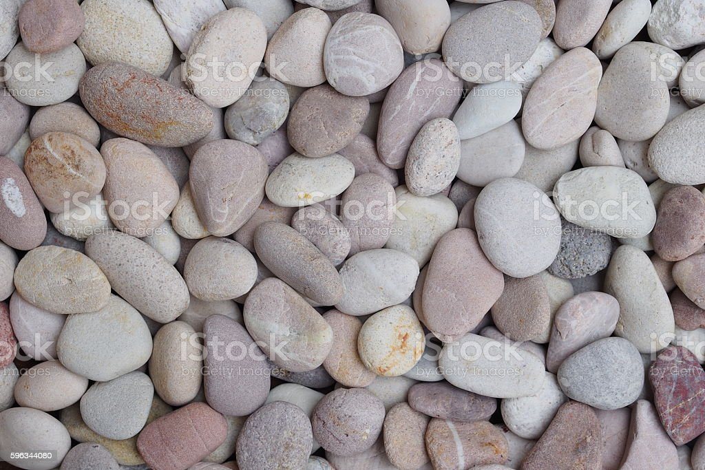 Round gravels with white and brown color Lizenzfreies stock-foto
