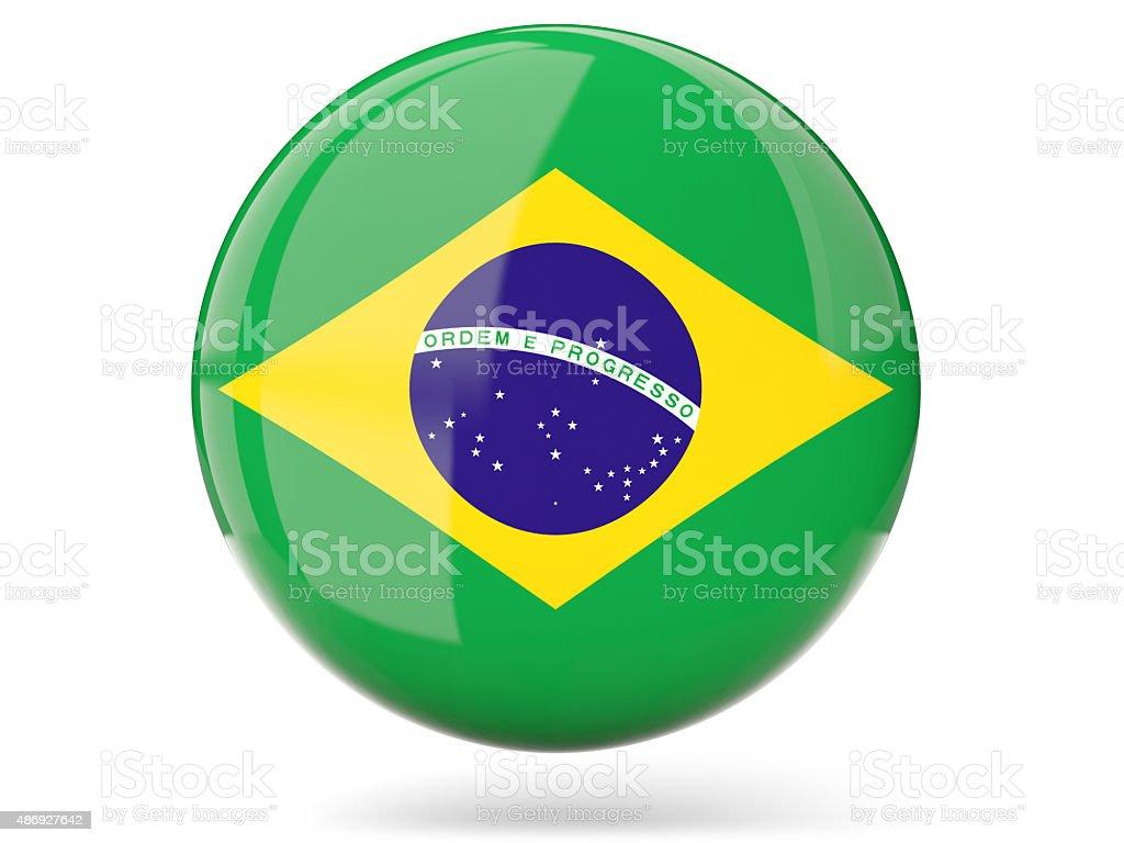 O ícone com bandeira do Brasil - foto de acervo