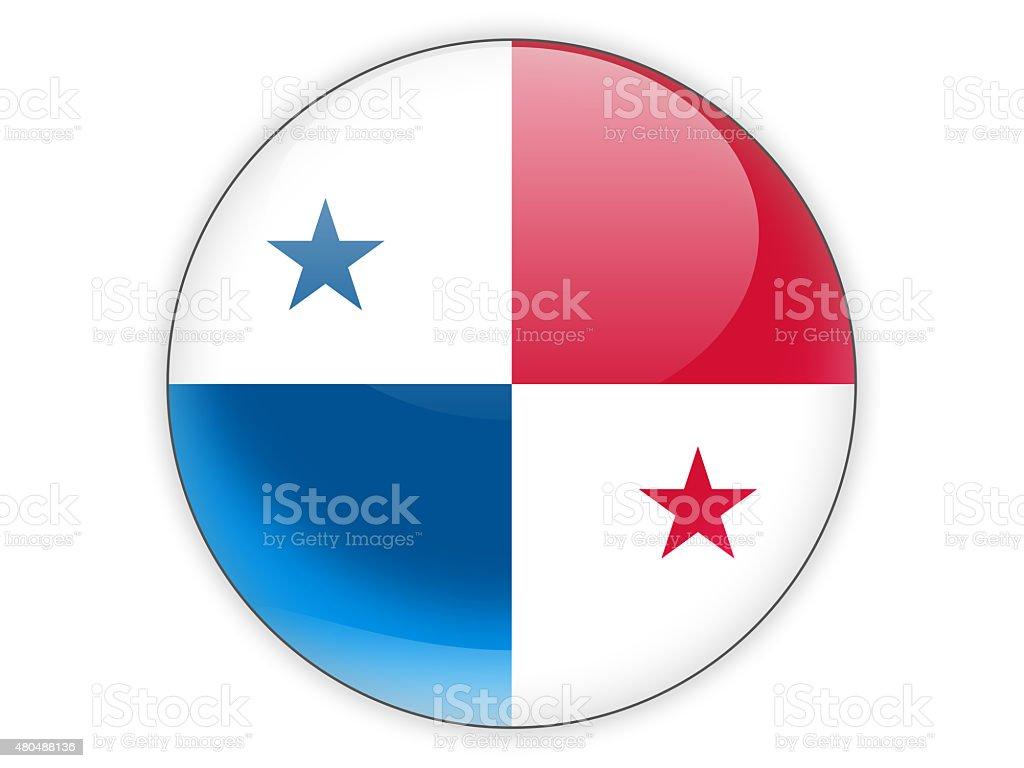 O ícone com bandeira do Panamá - foto de acervo