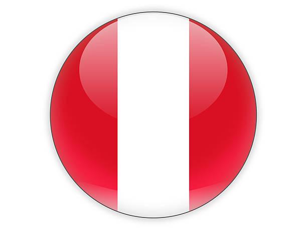 Partido icono con bandera de Perú - foto de stock