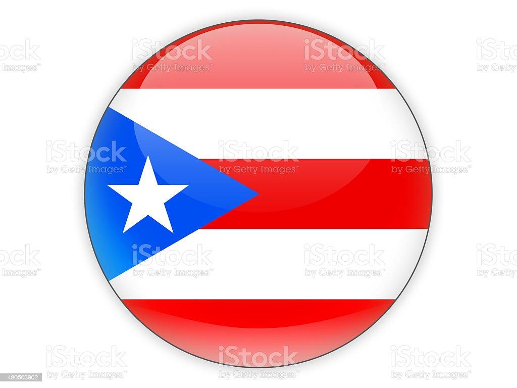 Partido icono con bandera de puerto rico - foto de stock