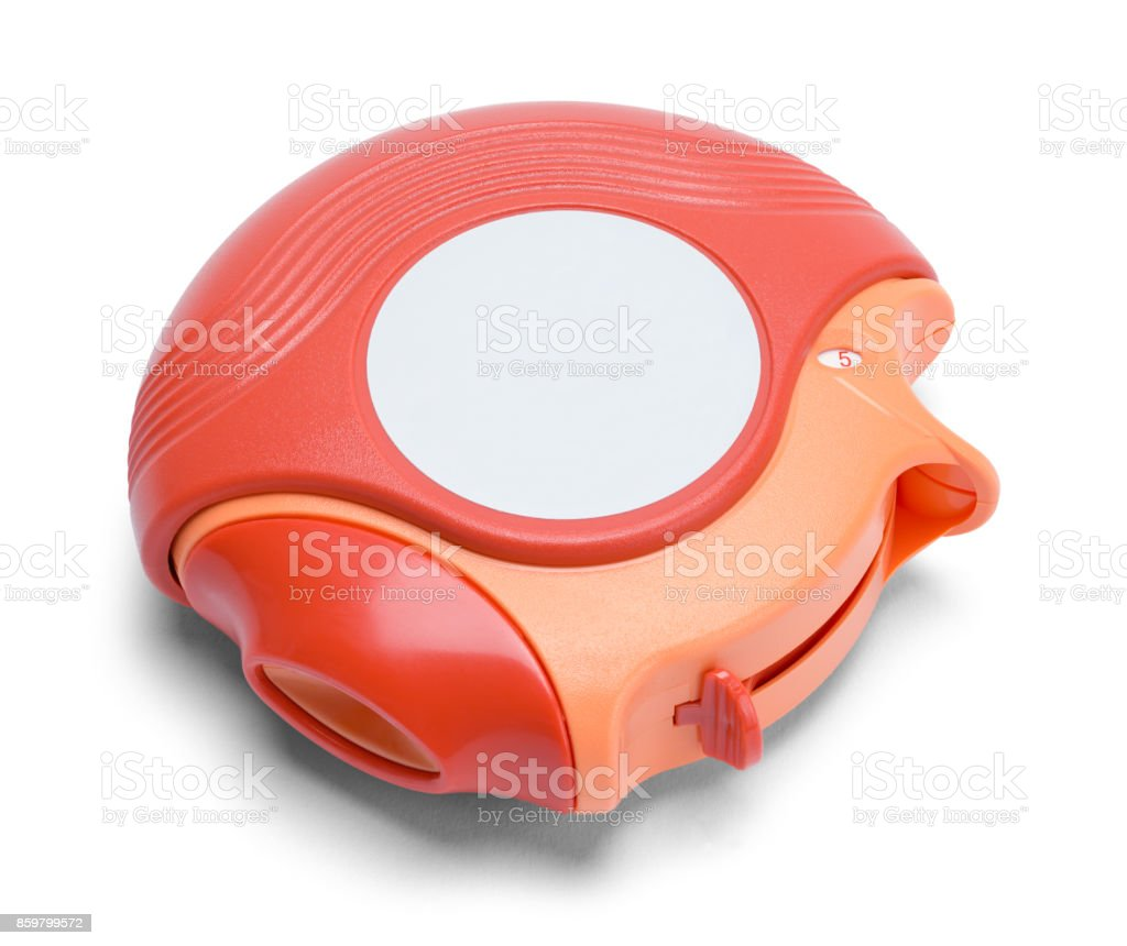 Round Inhaler stock photo