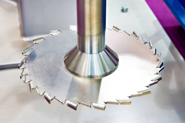 Round knife for mixing paint in mixer stock photo