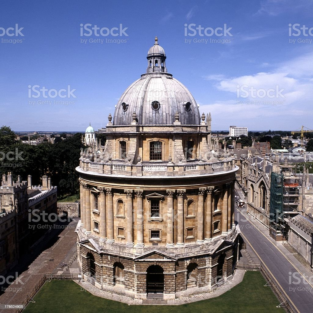 Round library building, Oxford, England. stock photo