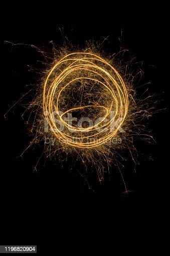 Spinning Sparkling Round Trail Background