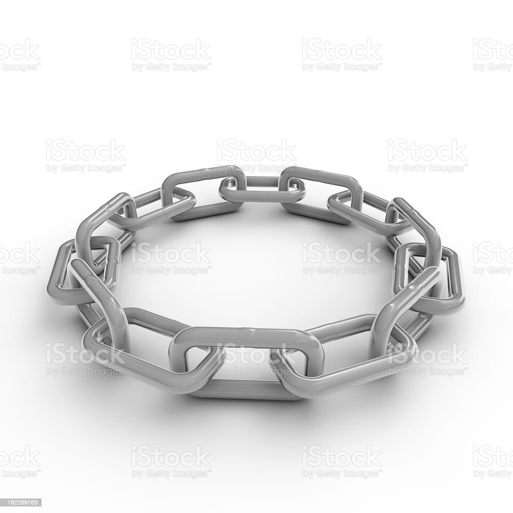Round linked chain stock photo