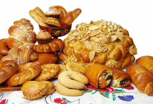 Round Loaf Buns And Rolls Stock Photo - Download Image Now