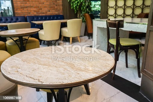 round marble table in coffee table