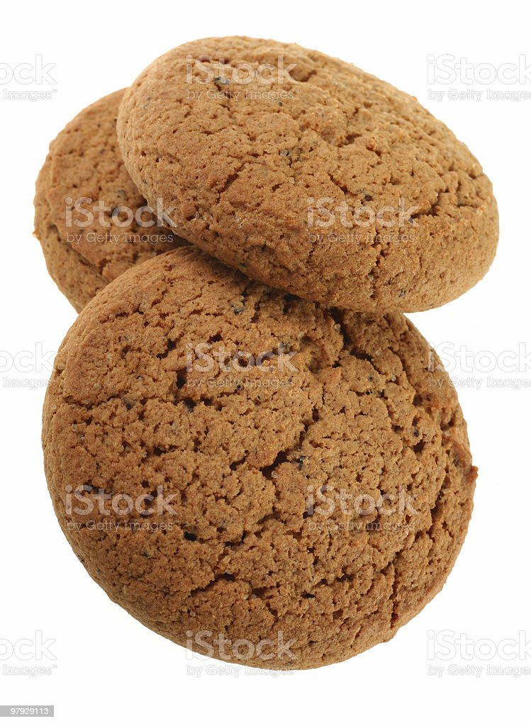 Round oat cookie royalty-free stock photo