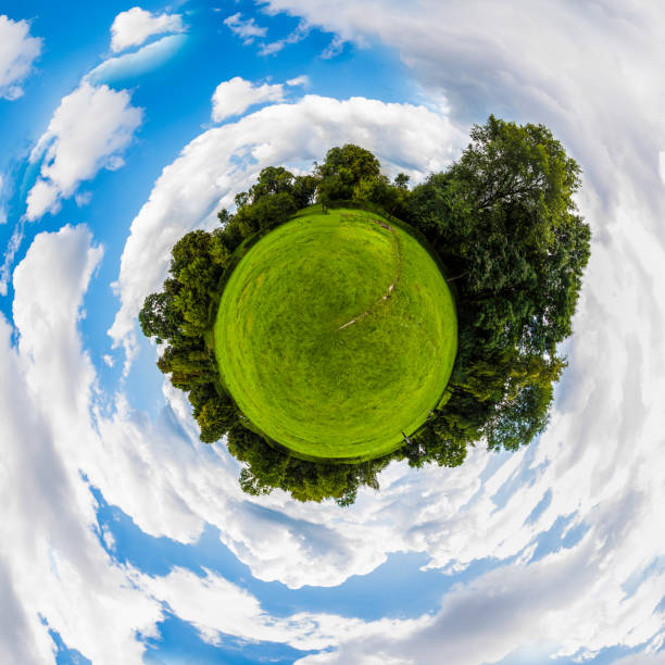 Round panorama stock photo