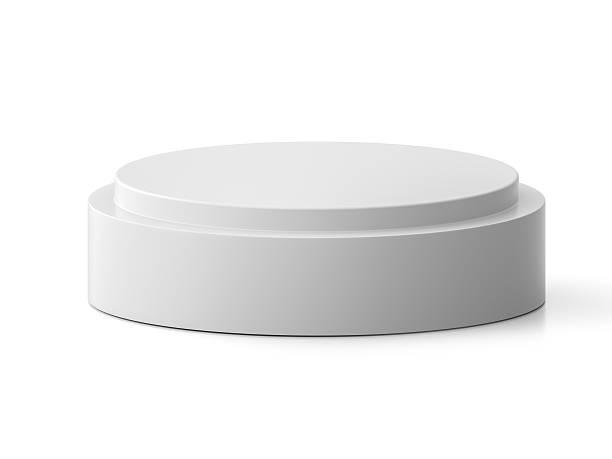round pedestal for display. platform for design. - 원기둥 뉴스 사진 이미지