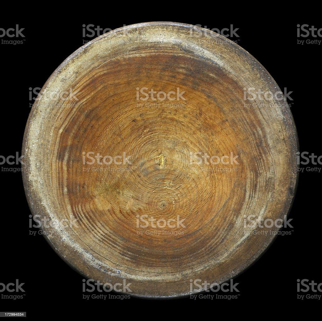 Runde Stück Holz auf Schwarz – Foto