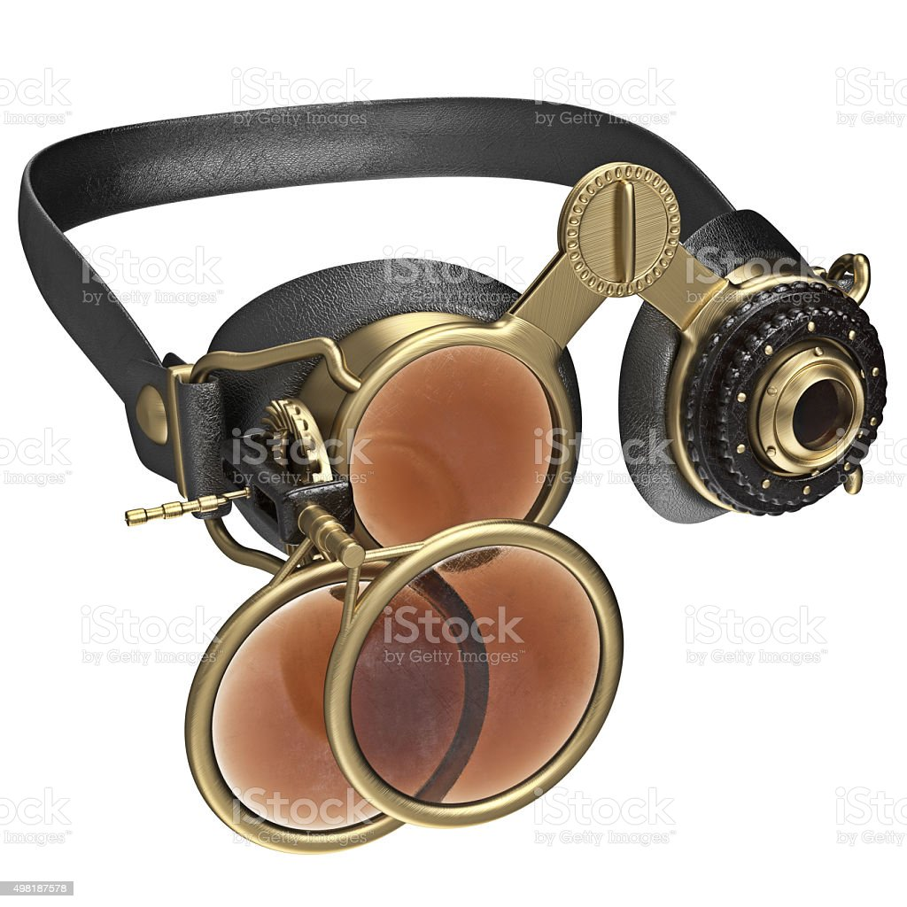 Round retro style sunglasses stock photo