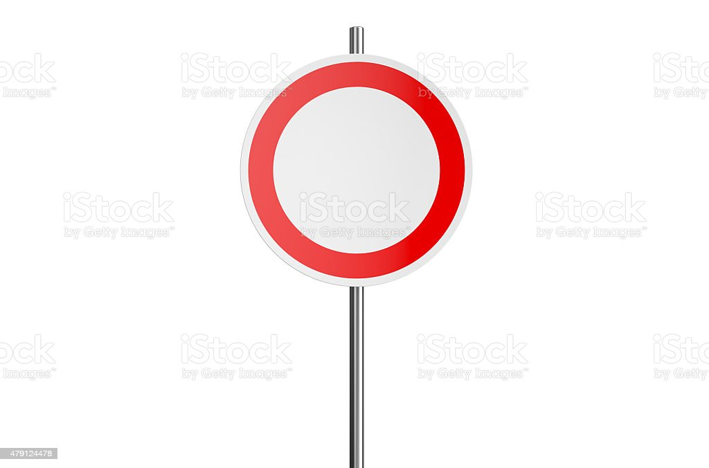 round road sign stock photo