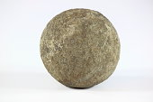 A Big Round Rock on a white background.