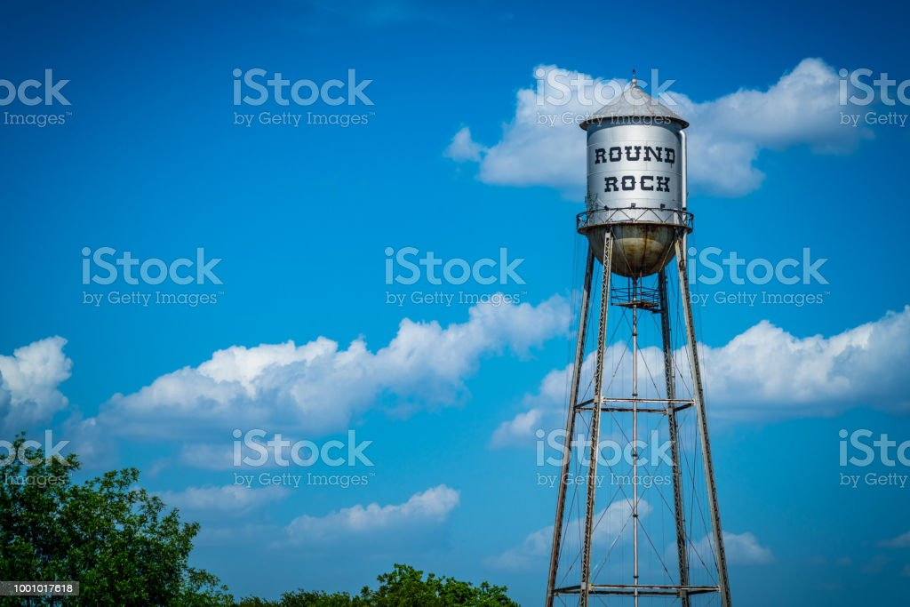 Round Rock Water Tower stock photo