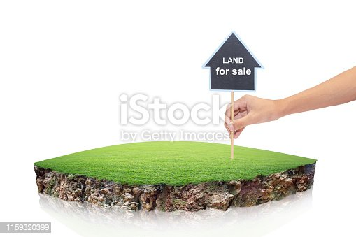 istock round soil ground cross section with earth land. House symbol with location pin and green grass in real estate sale or property investment concept, 1159320399