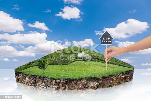 istock round soil ground cross section with earth land. 1160656682