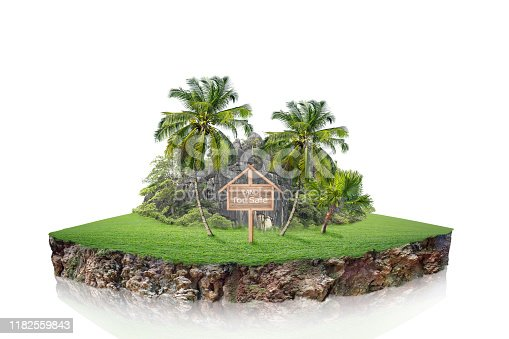 istock round soil ground cross section with earth land. 1182559843
