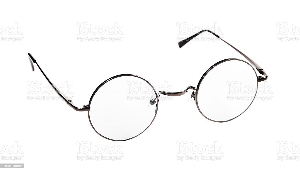 Round Spectacles. royalty-free stock photo