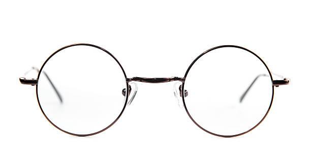 round spectacles. - gözlük stok fotoğraflar ve resimler