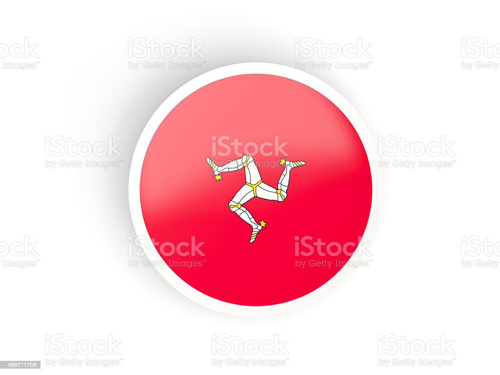 round sticker with flag of isle of man stock photo more pictures