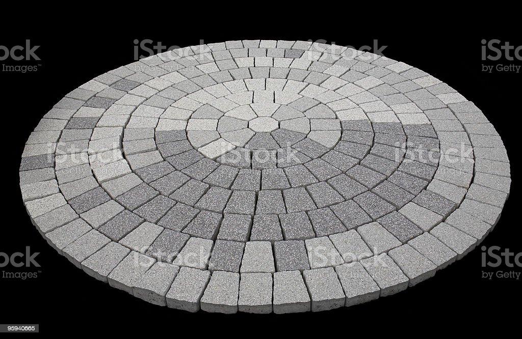 round stone mosaic royalty-free stock photo