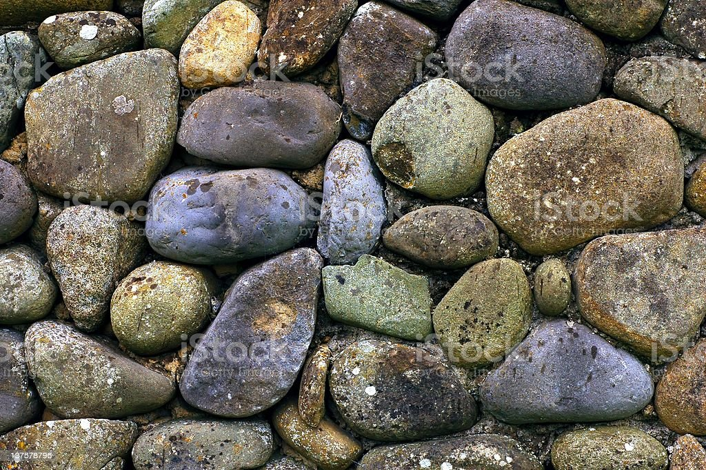 round stones wall vintage background royalty-free stock photo