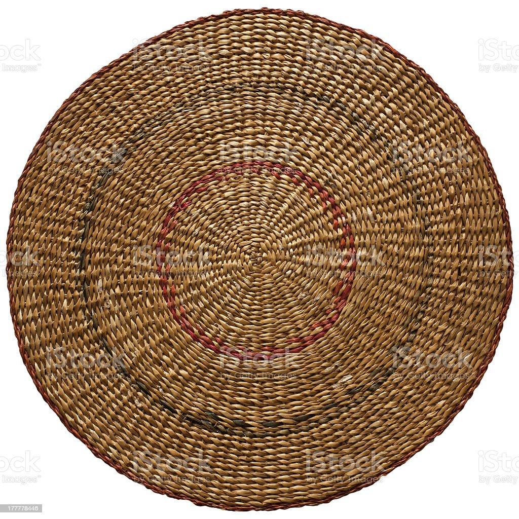 Round straw matt royalty-free stock photo