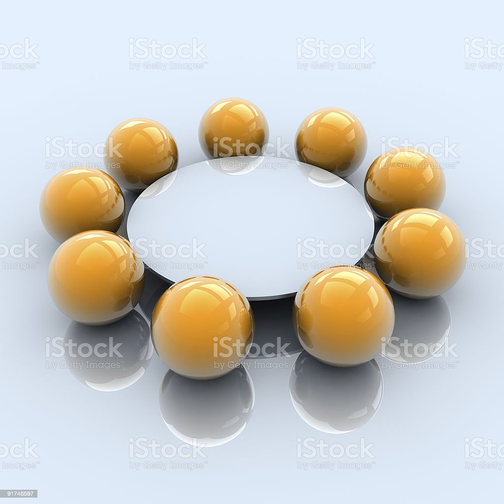 Round table business meeting stock photo