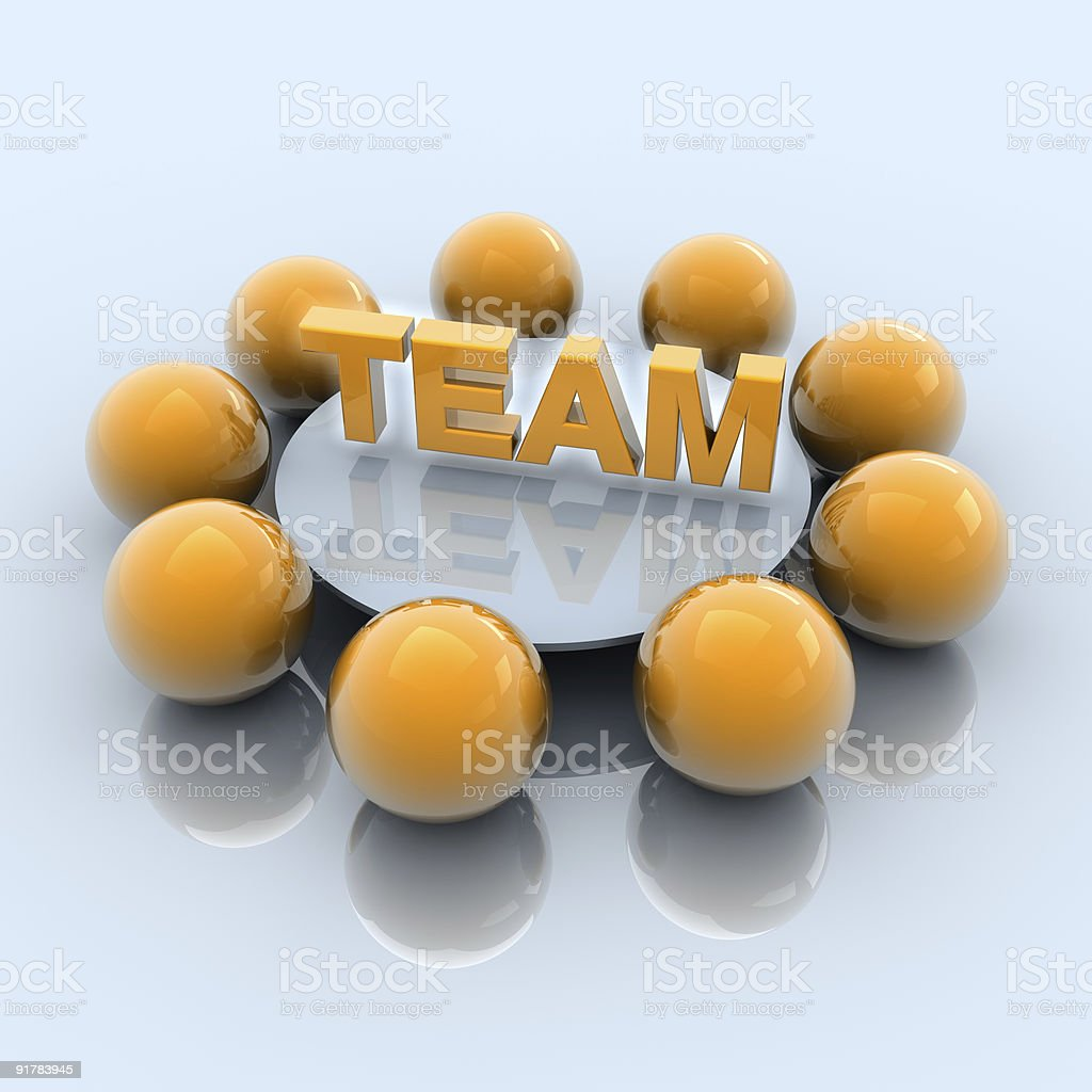 Round table business team meeting concept royalty-free stock photo