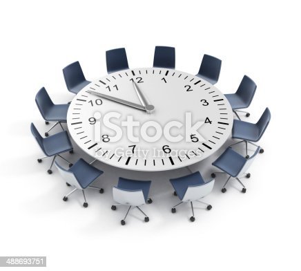 487354658 istock photo round table meeting deadline 488693751