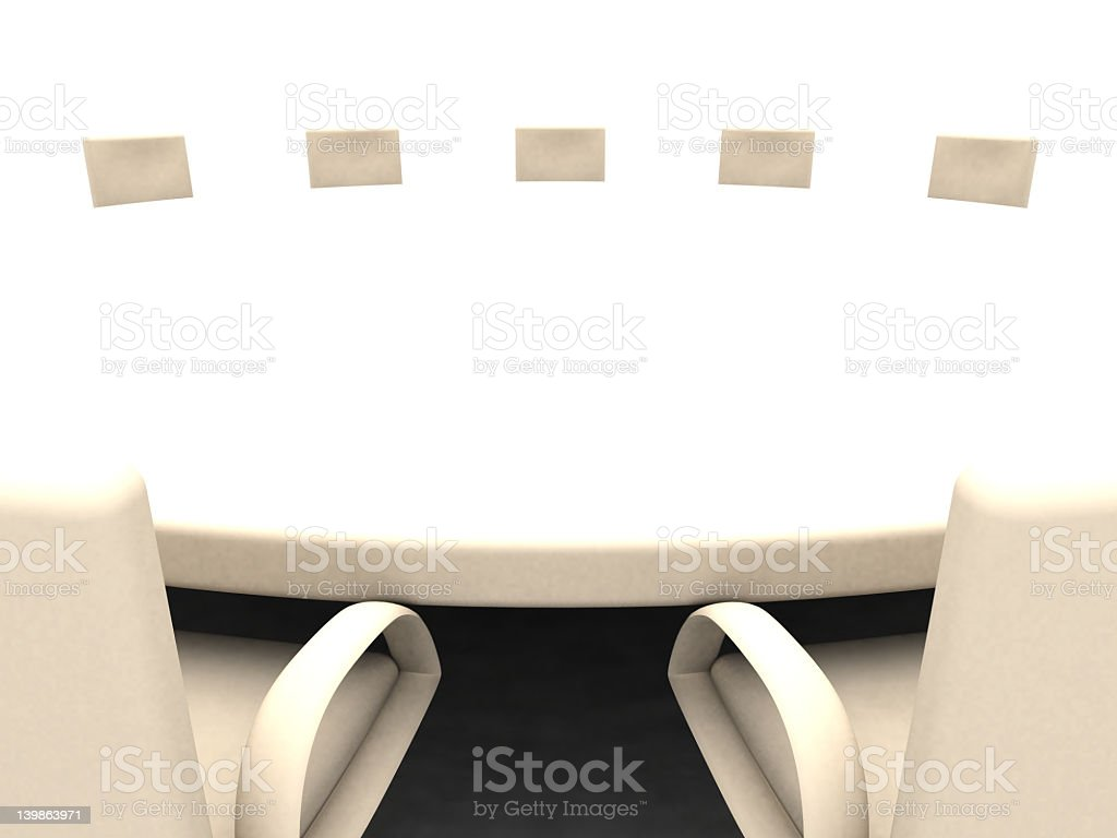 Round Table royalty-free stock photo