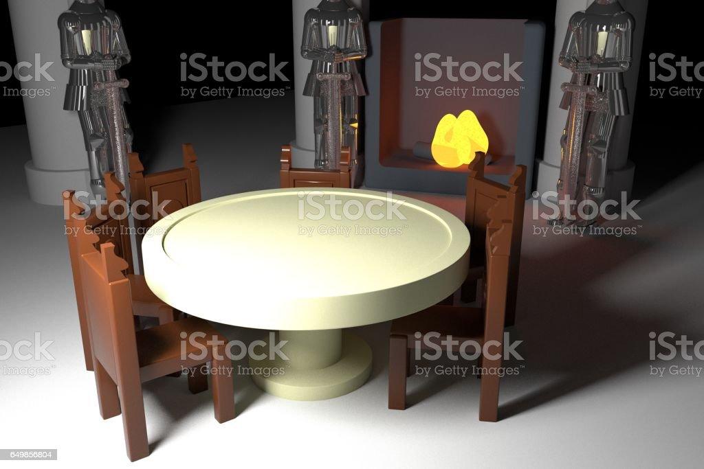 Round table stock photo