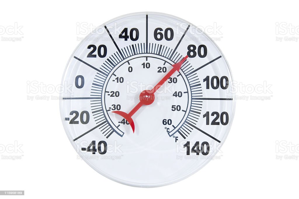 Round Thermometer royalty-free stock photo