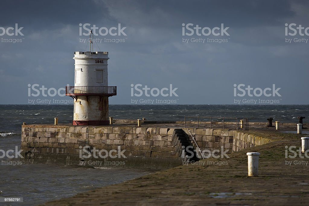 Round turret sur les quais photo libre de droits